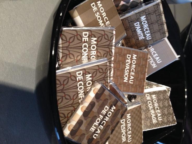 morceaux chocolat