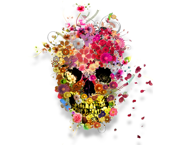 skull_flowers_by_jonassoares-d6t6q4p