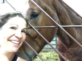 selfie réussi Val et cheval