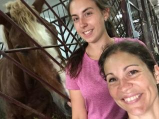 Selfie Valérie Vicky et cheval