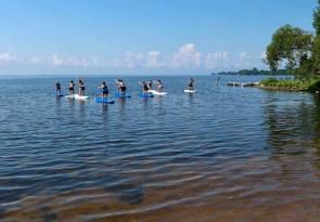 yoga kayak chaise eau peu profonde