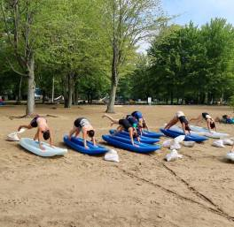 yoga kayak gang pratique sable