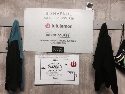 Pancarte bienvenue club course