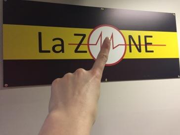 La zone affiche