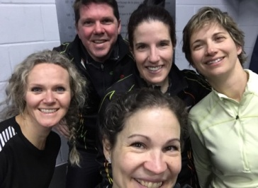 Patinage vitesse selfie de groupe
