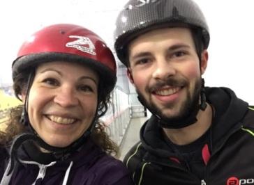 Patinage vitesse Valérie-Énergie et Olivier