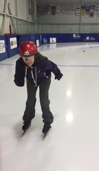 Patinage vitesse Valérie-Énergie patine de face