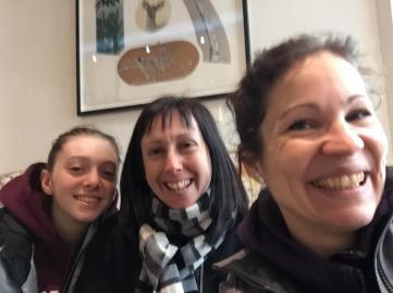 Yoga neige selfie 3 filles