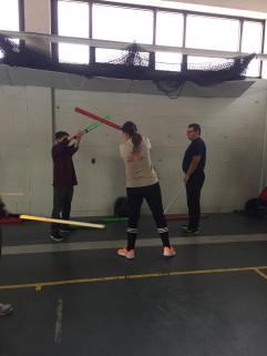 Isabelle Savaria sabre laser élève et maître laser