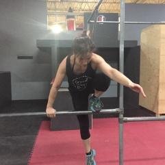 Valérie Énergie grimpe rampe Parkour
