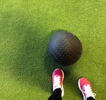 Slam ball sur turff